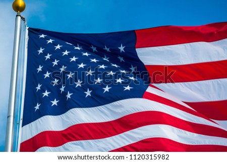9c0f65201282 Perfect American flag star and stripes a patriotic symbol of the USA close  up on 50