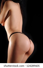Perfect back of a curvy woman