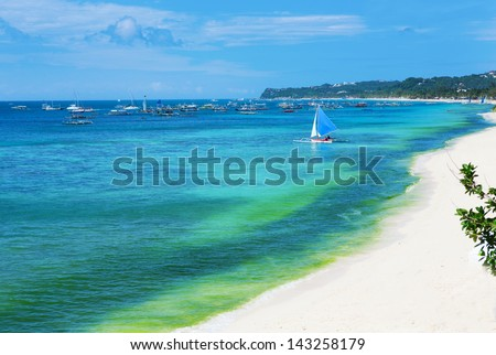 Perfect beach of Boracay island, Philippines