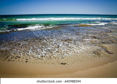 Perfect Beach, Four Mile Beach in Western Australia. Southern Ocean. Space for Copy.