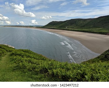 Perfect beach holiday escape - Rhossili Beach, South Wales, UK