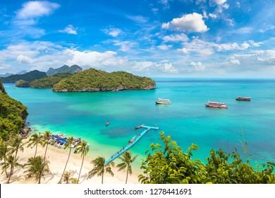 Perfect beach at Mu Ko Ang Thong National Park, Thailand in a summer day