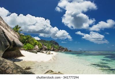 Perfect Beach on La Digue Seychelles