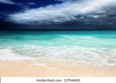 perfect beach on Mahe island, Seychelles