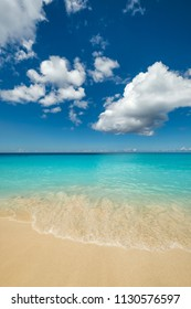 Perfect beach on a sunny summer day