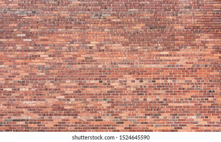 Perfect Brick Wall Red Background