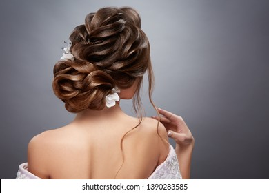 perfect bride's hairstyle from back