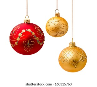 Perfect christmas balls isolated on white background