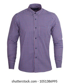 Perfect dark purple and red check print full sleeves shirt gives formal look, you can wear a solid pant with this shirt. It is the stylish and formal shirts that you can wear for all casual occasions.