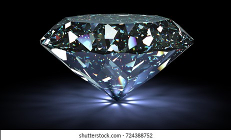 perfect diamond isolated on white background. 3d illustration