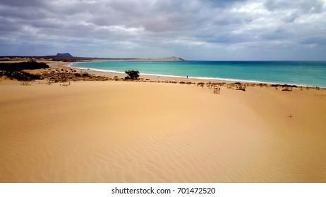 perfect empty sandy beach