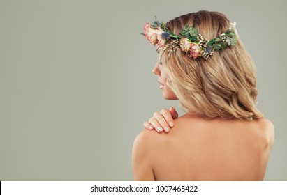 Perfect Female Back on Background with Copy space