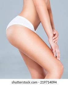 Perfect female body - torso and buttocks.