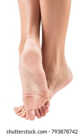 Perfect female feet with smooth skin.