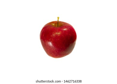 Perfect fresh red apple isolated on white background Benefits of Apple for diet and have Pectin, Quercetin