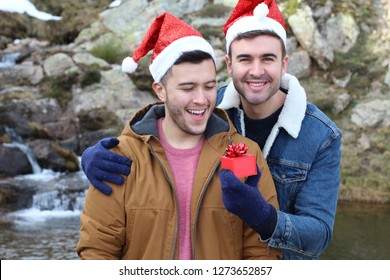 The perfect gay couple in Christmas