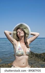 Perfect Girl In Bikini On The Beach
