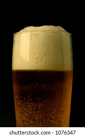 A perfect glass of cold beer
