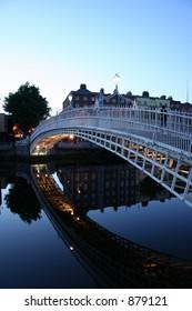 Perfect Ha'penny Bridge Reflection