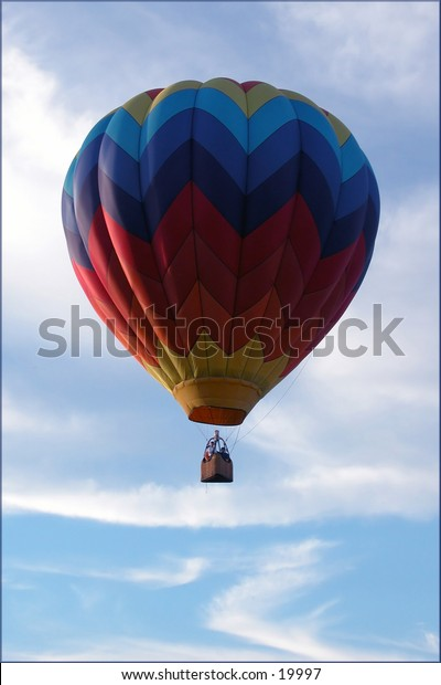 Perfect: The perfect hot air balloon on a perfect day.