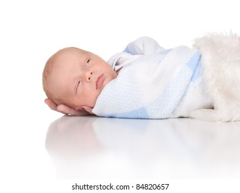 A perfect image of an adorable two week old infant.