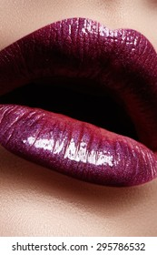 Perfect Lips. Close-up detail