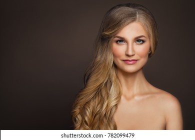Perfect Mature Woman with Healthy Skin. Spa Beauty, Aesthetic Medicine and Cosmetology Concept