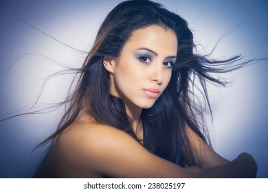 perfect nourished young woman beauty portrait