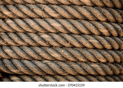 Perfect old yellow rough rope texture background