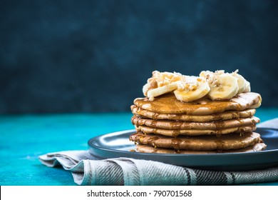 Perfect pancakes for Shrove Tuesday,copy space.