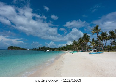 Perfect paradise beach known as Langob, on the north side of Malapascua island in Cebu, Philippines