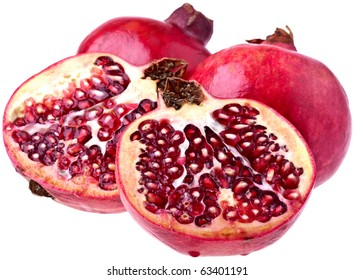 Perfect Pomegranates, completely isolated on white