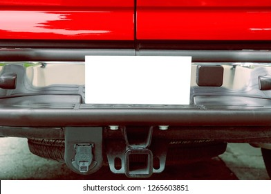 The perfect rear Of a Red truck to use with copy space