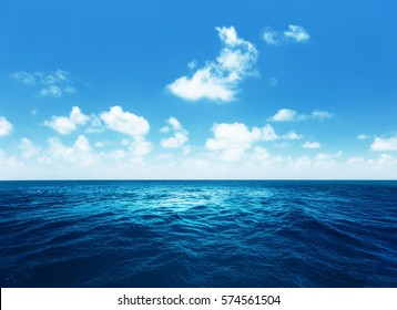 perfect sky and tropical ocean