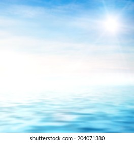 perfect sky and water