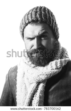 cfc1ad1f64e Perfect Style Confident Bearded Man Wearing Stock Photo (Edit Now ...