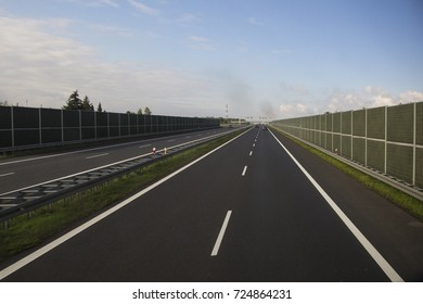 Perfect surface and soundproofing walls of modern highway