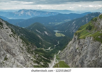 Perfect view from Mangart in Slovenia Alps