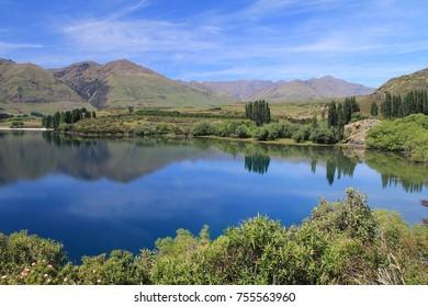 Perfect Waters in Lake Hawea in Otago, New Zealand