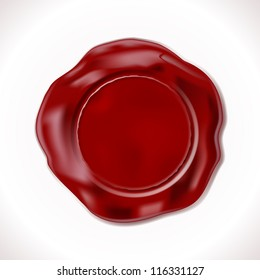 Perfect Wax Seal Isolated on white. Illustration