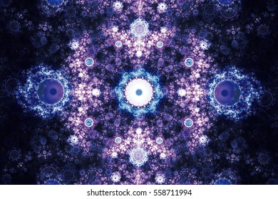 Perfection in geometry. Beautiful fractal frequency shapes Illustration. Fractals can illustrate universe,galaxies,chaos,creativity,solar system,firework,explosion space music and art concept.