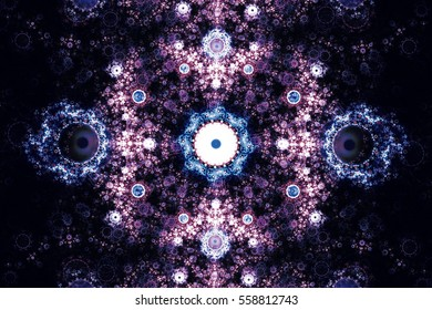 Perfection in geometry. Beautiful fractal frequency shapes Illustration.