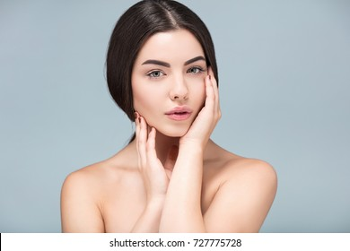 Perfection, Spa  girl beautiful portrait, fresh healthy skin, skincare and cosmetology concept, rejuvenation and treatment