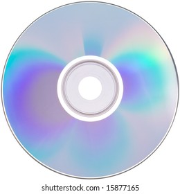 a perfectly clean CD, isolated on solid white - with clipping path