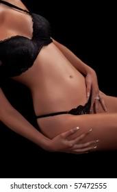 Perfectly female body, studio shot