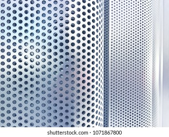 Perforated metal plate wall