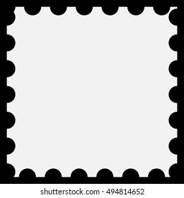Perforated post stamp