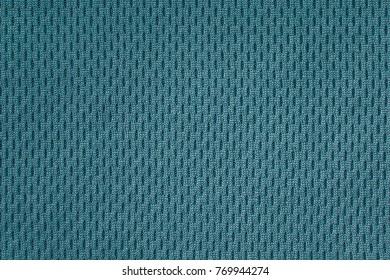 Perforated thermo fabric aquamarine closeup