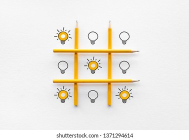 Performance and creativity concepts ideas with light bulb on ox game.business development and competition for success - Shutterstock ID 1371294614
