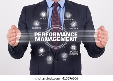 PERFORMANCE MANAGEMENT TECHNOLOGY COMMUNICATION TOUCHSCREEN FUTURISTIC CONCEPT